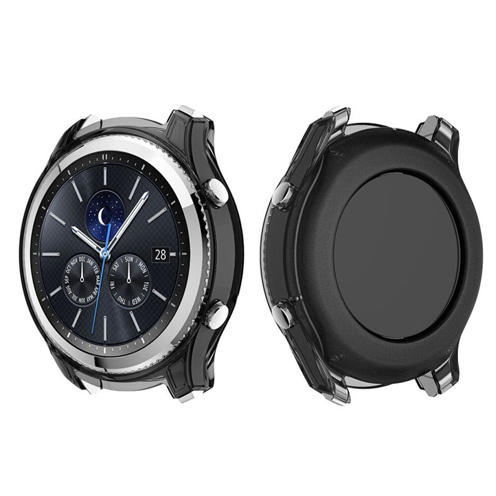 Watch Protective cover for samsung gear s3 Classic case Transparent Silicone R770 frame smartwatch S3 Accessories