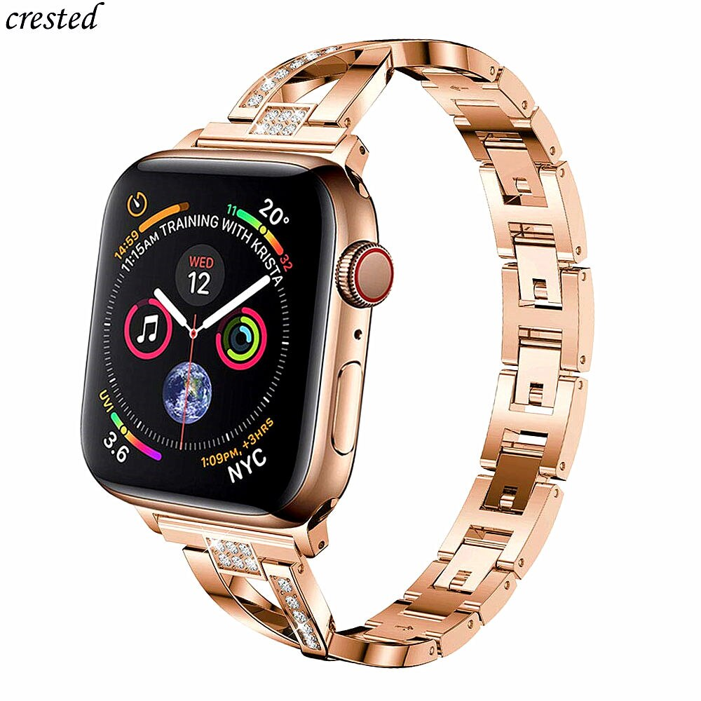 316L Stainless steel band For Apple Watch 38mm 42mm iWatch band 40mm 44mm Metal watchband bracelet strap Apple watch 5 4 3 2 38