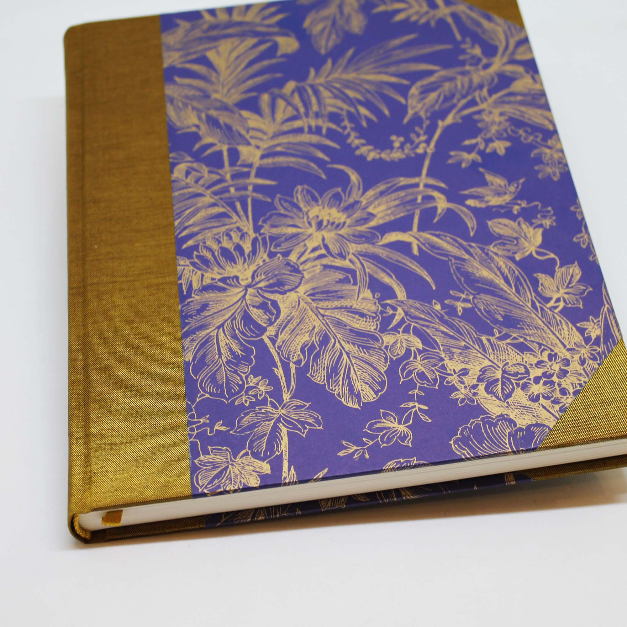VINTAGE NOTEBOOK PURPLE AND GOLD