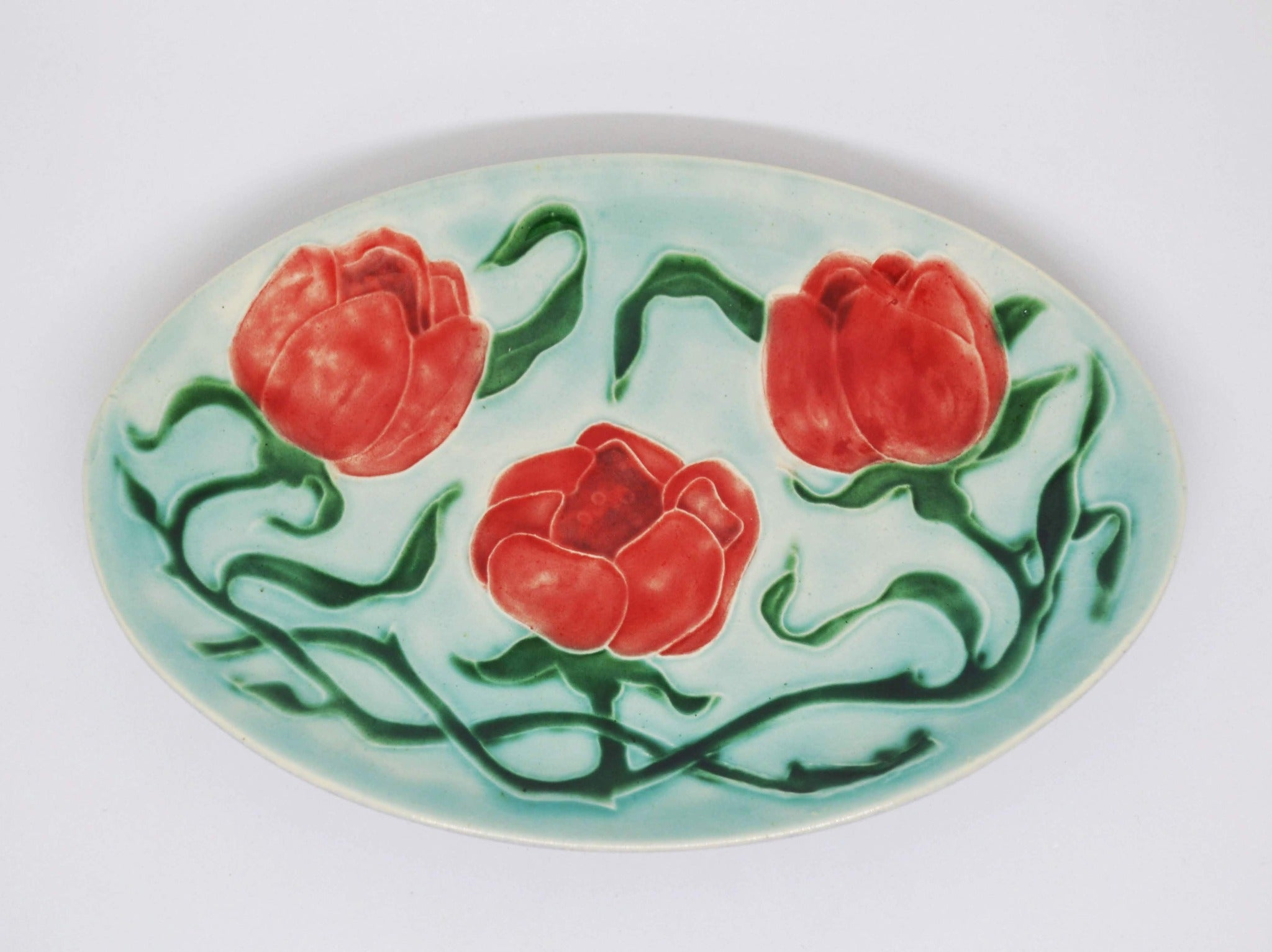 Pink Tulips Plate