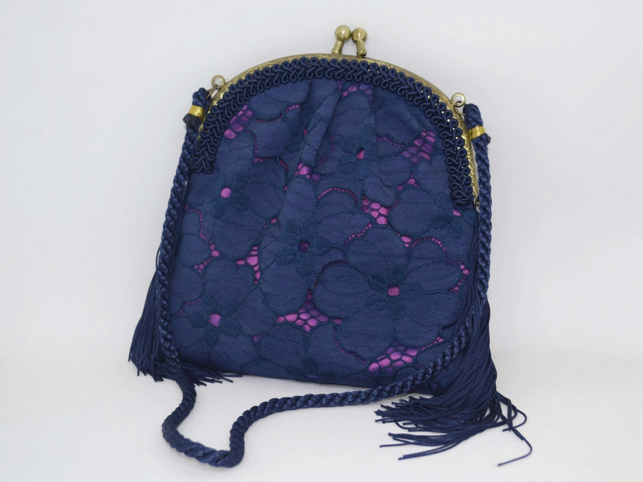Small Blue Lace Evening Purse