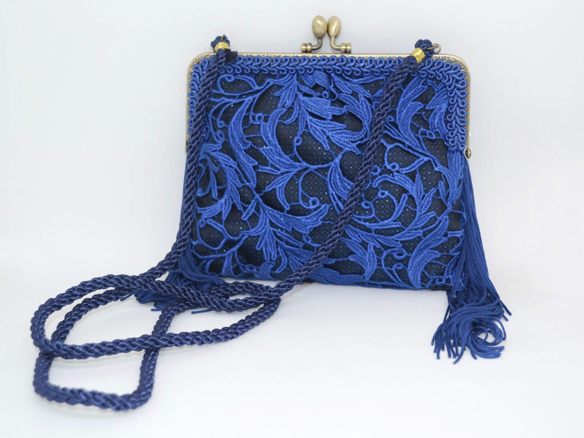 Blue Lace Evening Purse
