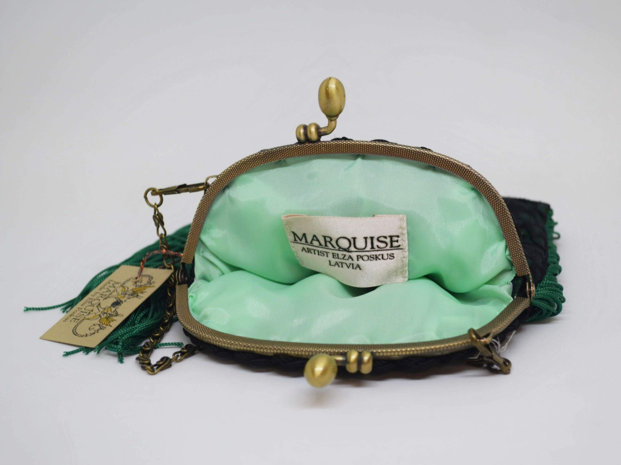 Green Lace Evening Purse