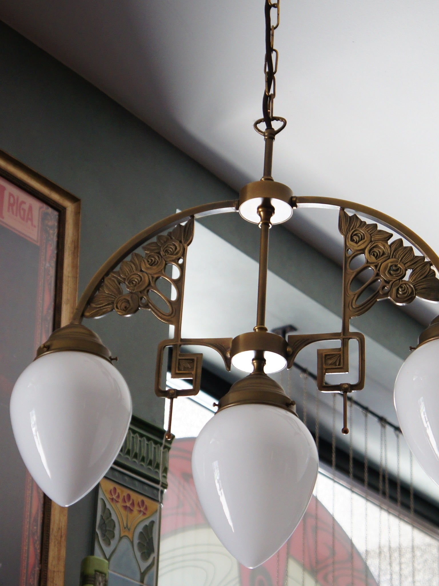 Art Nouveau Ceiling Lamp