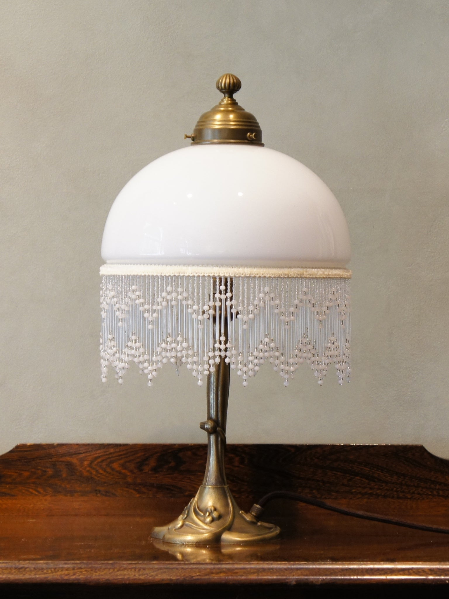 Table Lamp with a Floral Base