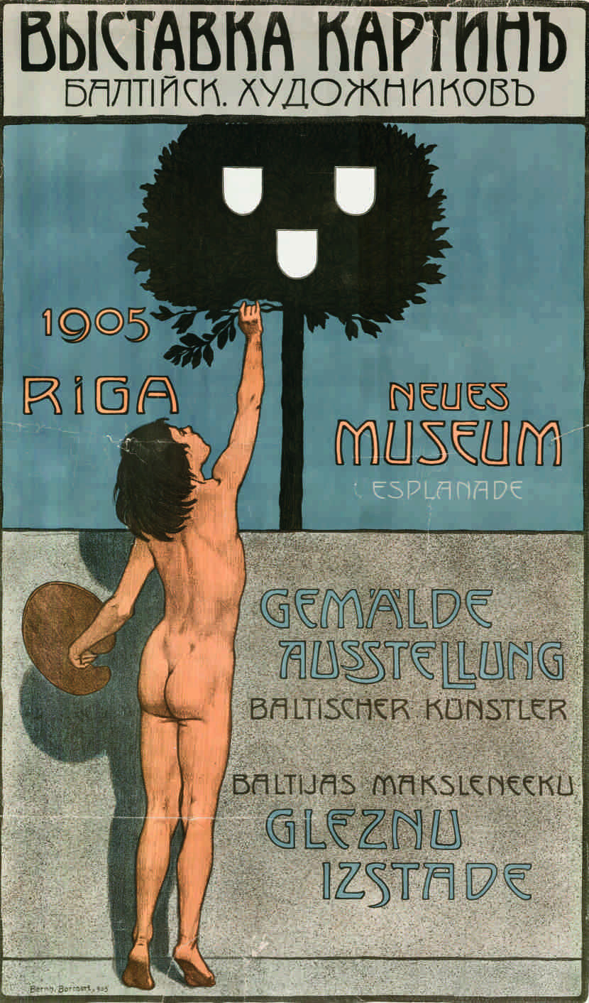 Poster for Baltic Art Exhibition 1905