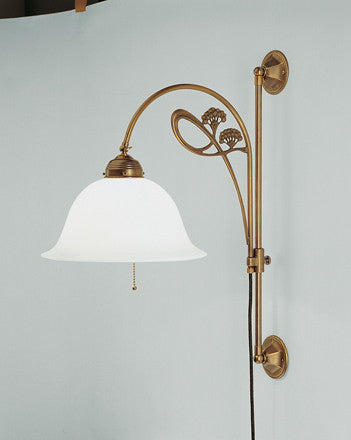 Wall Lamp with Floral Motif