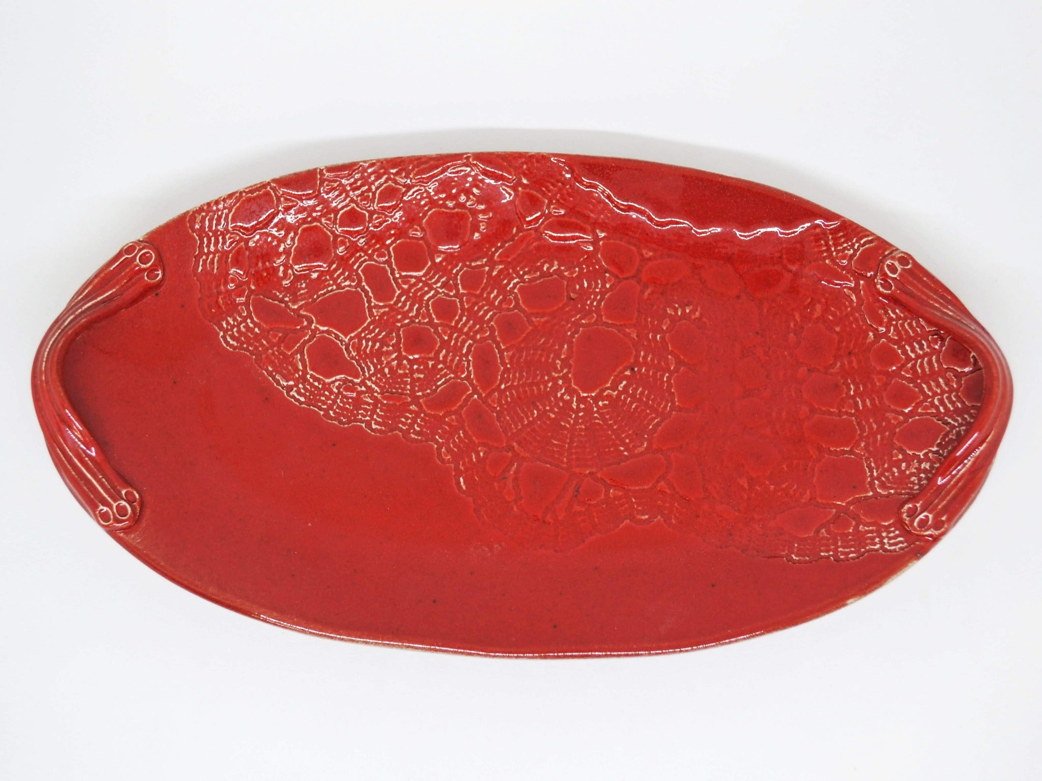 Red Lace Plate