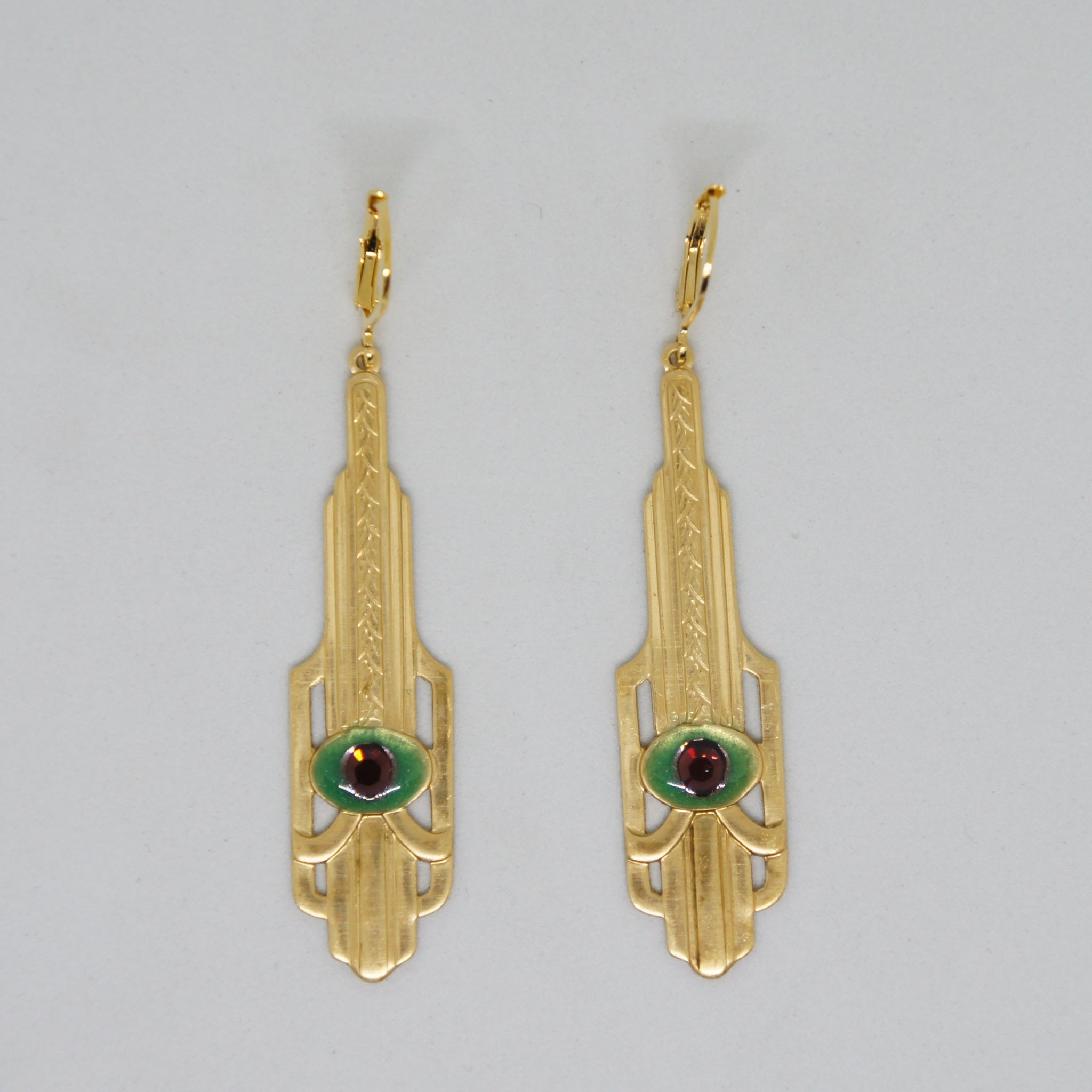 Era Futuris Geometric Art Deco Earrings