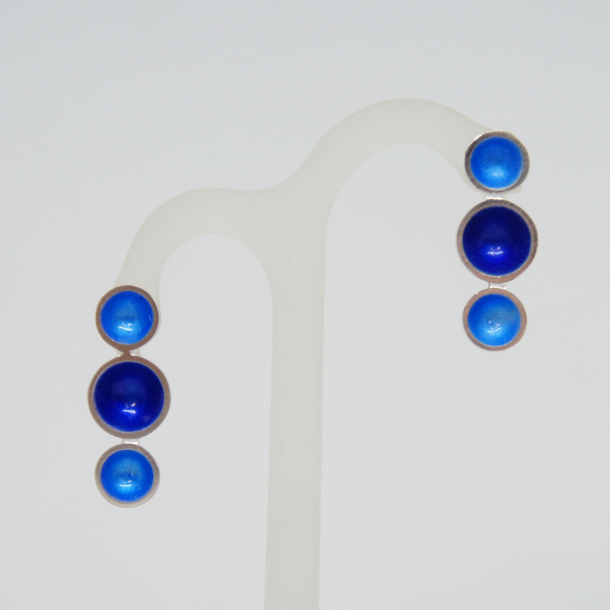 Esthetique Enamel Blue Earrings