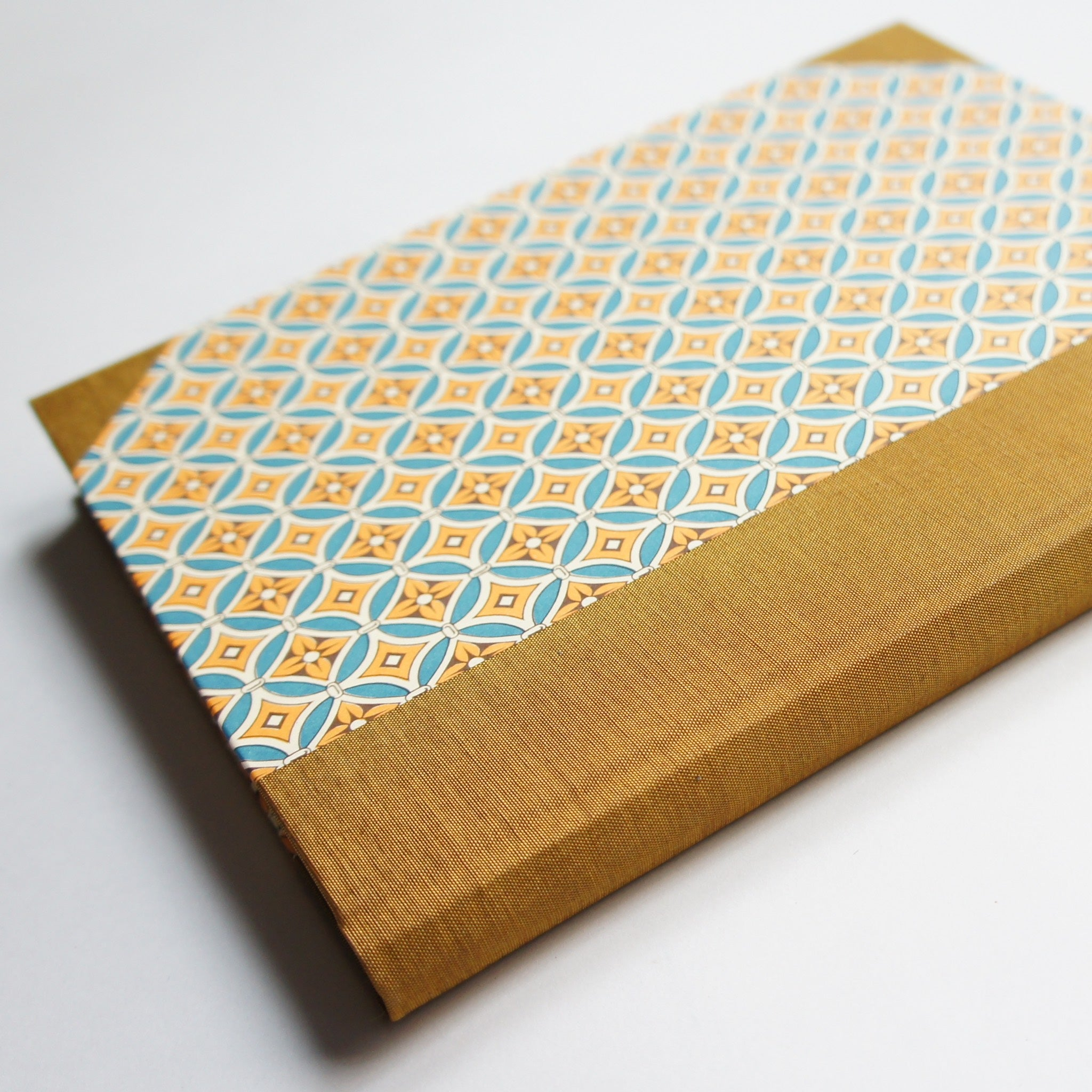 Vintage Notebook - Amber Tile Print