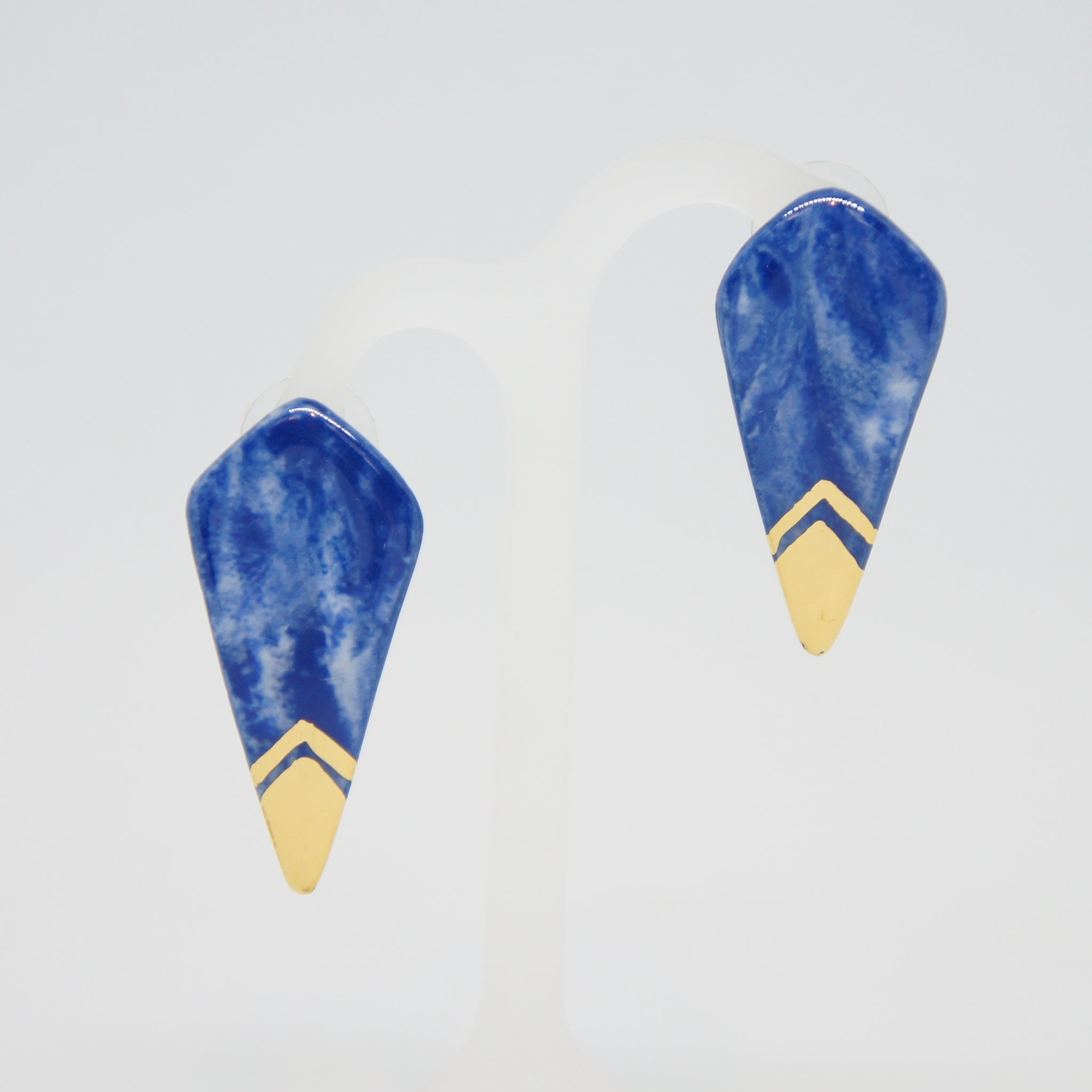 Rozenthal  Porcelain Kite Earrings