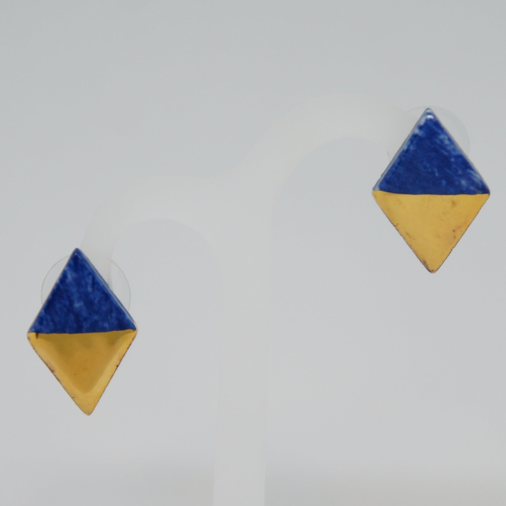 Rozenthal  Porcelain Rhombus Earrings