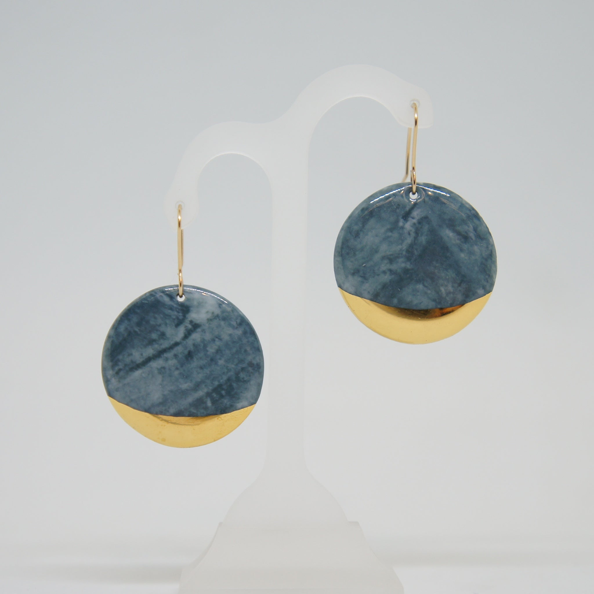 Rozenthal  Porcelain Round Earrings