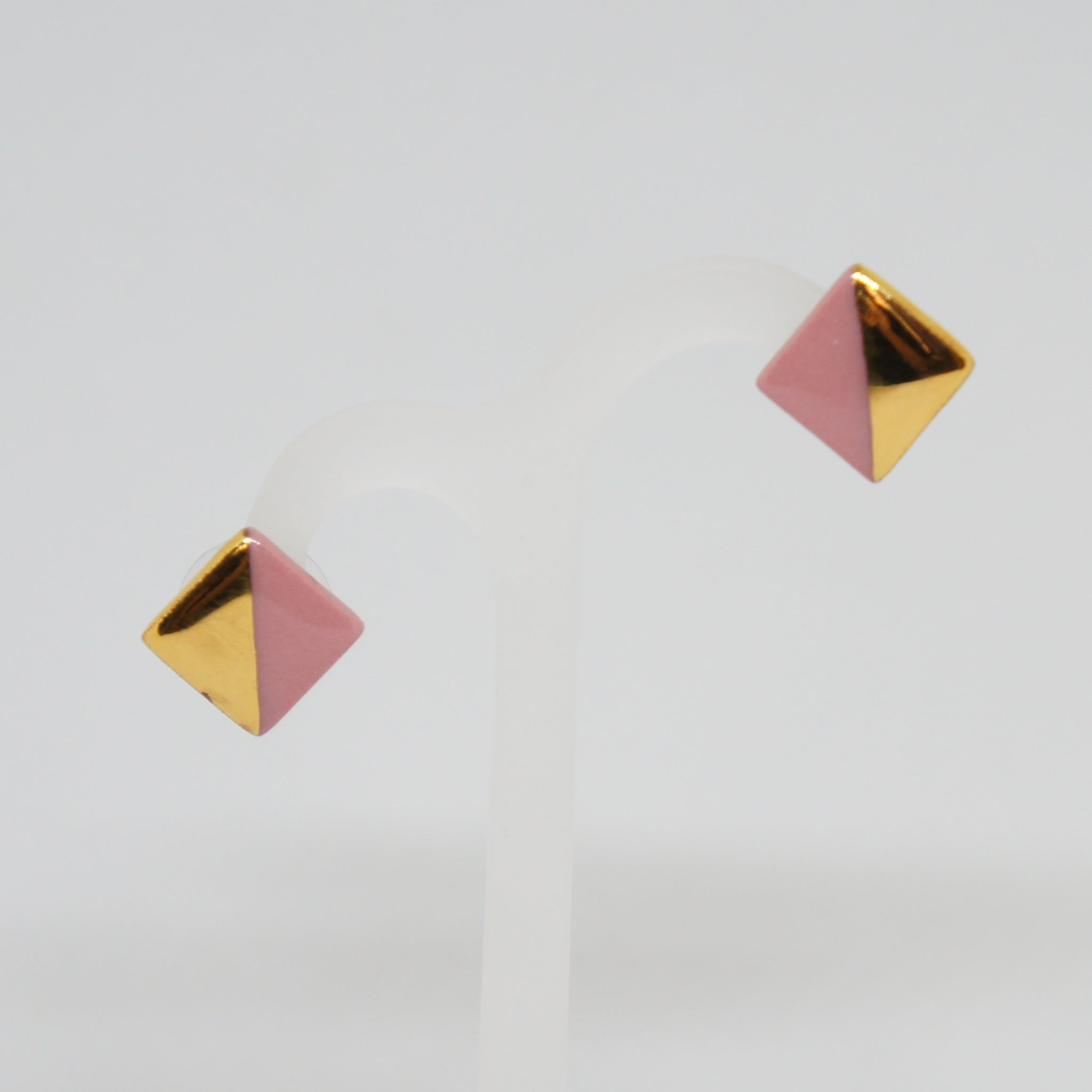 Rozenthal  Porcelain Square Earrings