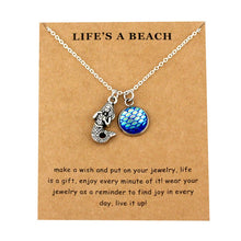 Load image into Gallery viewer, Sea Turtle Tortoise Necklaces Ocean Waves Beach Conch Shell Pendants Women Men Unisex Trendy Jewelry Lover's Christmas Gift