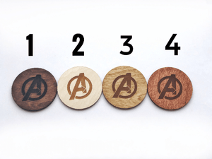 Marvel - Set of 6 Coasters ( Brown Color )