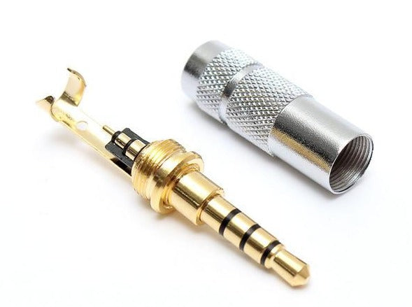 3.5mm 4 Pole Stereo Male Jack Plug Audio Solder Connector