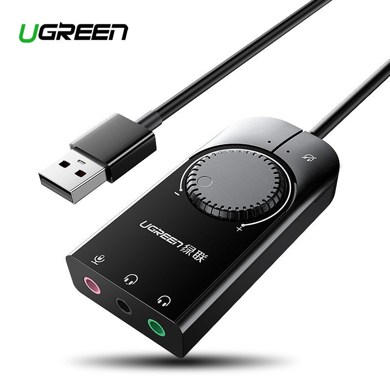 USB 2.0 External Stereo Sound Adapter Black