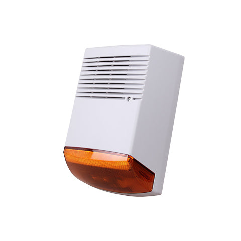 High Quality 12V Outdoor Siren with Flash Wired 120db
