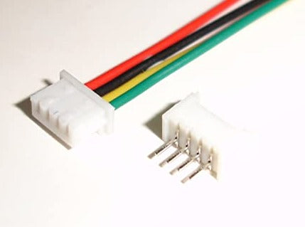 4 Pin Connectors w/ Leads Male