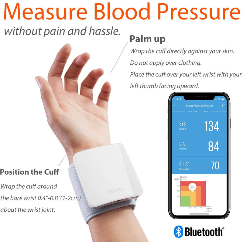 iHealth Sense Wireless Wrist Blood Pressure Monitor BP7