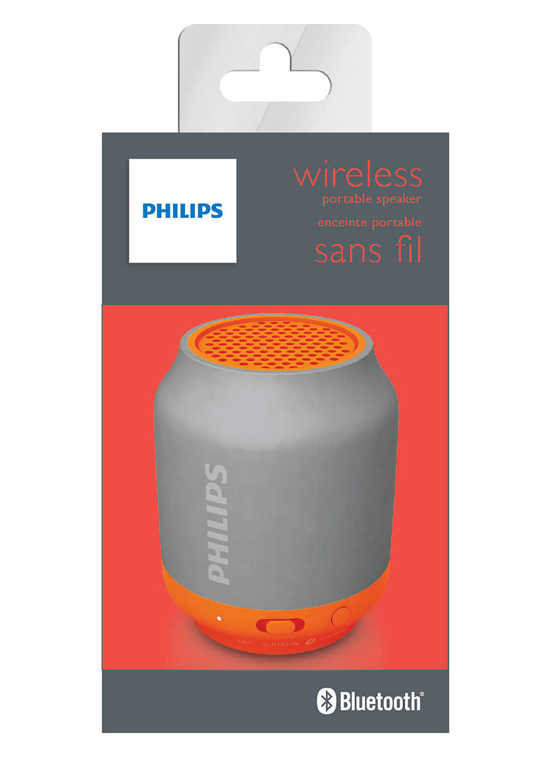 Philips Bluetooth Portable Speaker Grey 2W