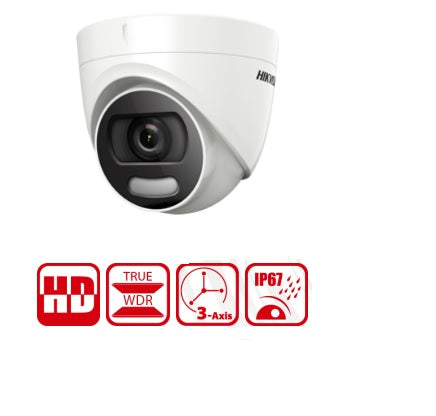 HD 1080 Analog Full Time Color Turret Camera 2MP