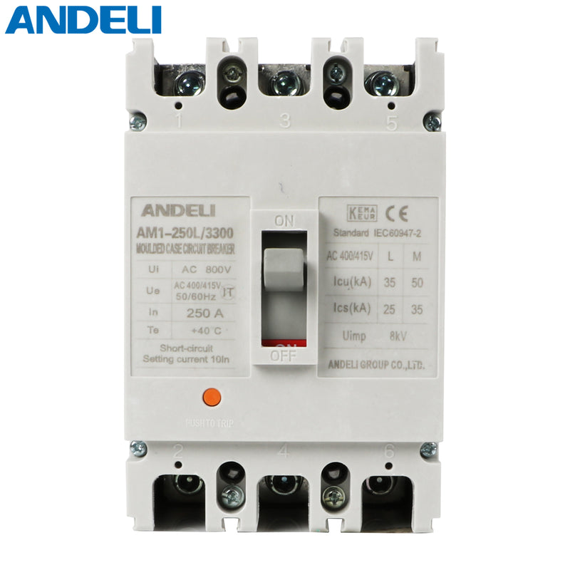 Moulded Case Circuit Breaker AM1-125 L 3P 100A