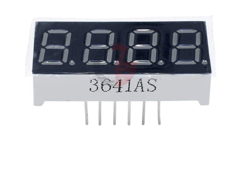 7 Segment Display 1 digith small 12V cathode, red, 0.36""