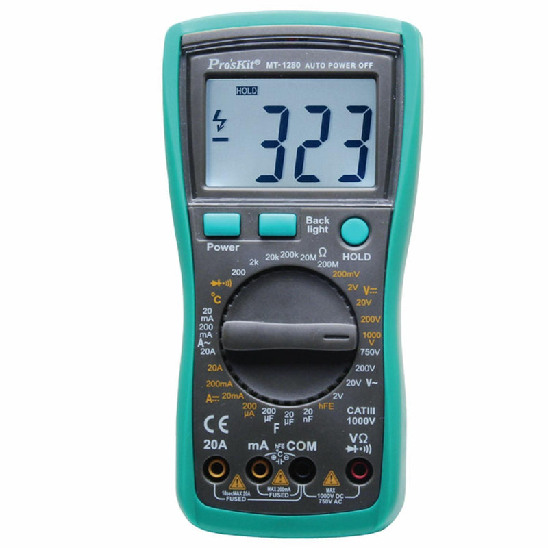 3 1/2 Digital Multimeter - MT-1280
