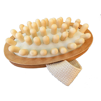 Brosse massage cellulite