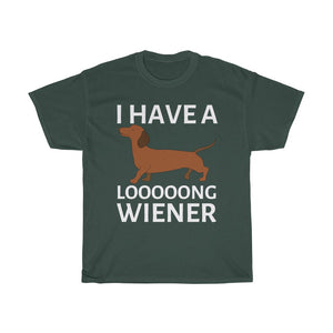 I have a loooong Wiener | Unisex Cotton T-shirt | 4-Colors