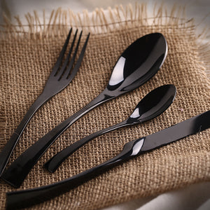 Jet Black Silverware (24 Piece Set)
