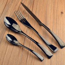 Load image into Gallery viewer, Jet Black Silverware (24 Piece Set)