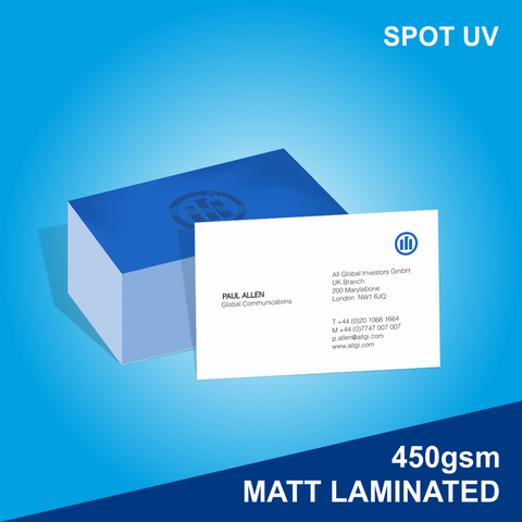 Matt Laminated and Spot UV Business Card