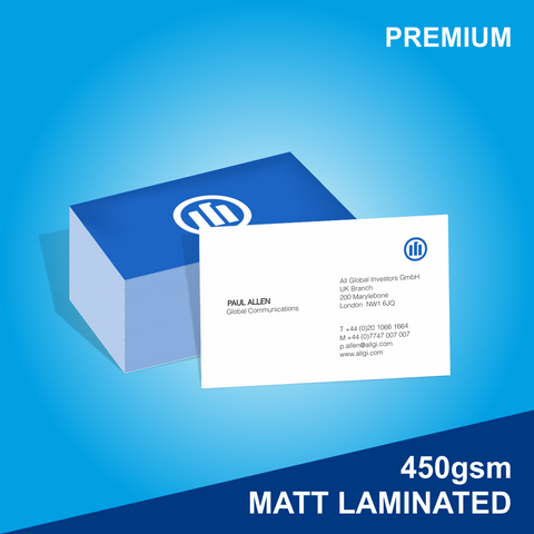 Premium Matt Laminated Business Cards