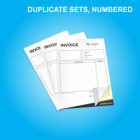 NCR A5 Duplicate (Sets) Numbered