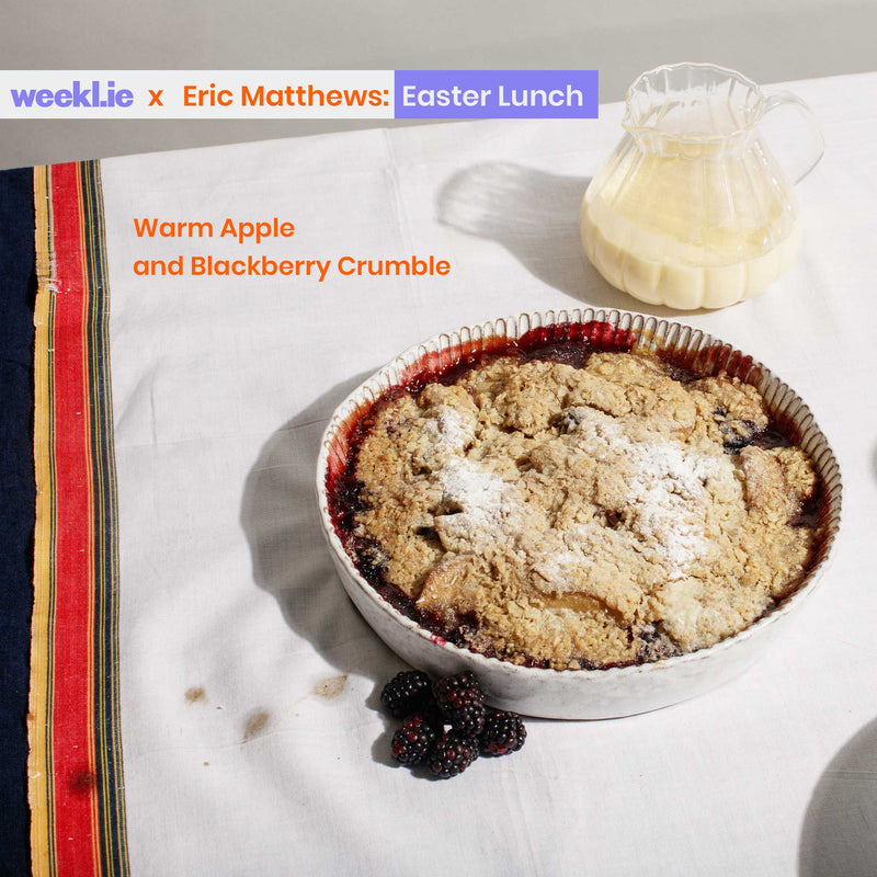 Eric Matthews Recipe Pack: Warm Apple and Blackberry Crumble