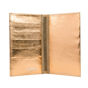 large wallet metallic (vegan)