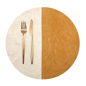 placemat round spezatto cachemire/camel (vegetale)