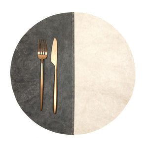 placemat round spezatto cachemire/dark grey (VEGAN)