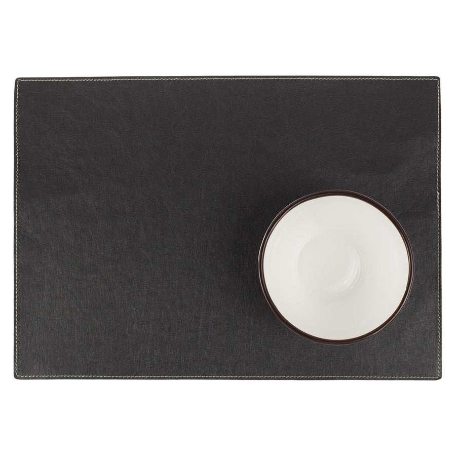 placemat TEC paper black (VEGAN)
