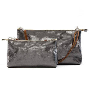 la busta metallic long strap peltro