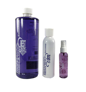 BEST SOLUTION Jewelry Cleaner 32oz Bottle with C5 8oz Metal Polish & 2oz Bottle