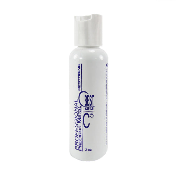 BEST SOLUTION C5 Metal Polish Restoration System Jewelry Cleaner 2oz Bottle