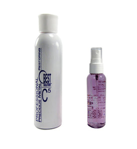 BEST SOLUTION Jewelry Cleaner 2oz Spray Bottle with C5 Metal Polish 8oz Bottle