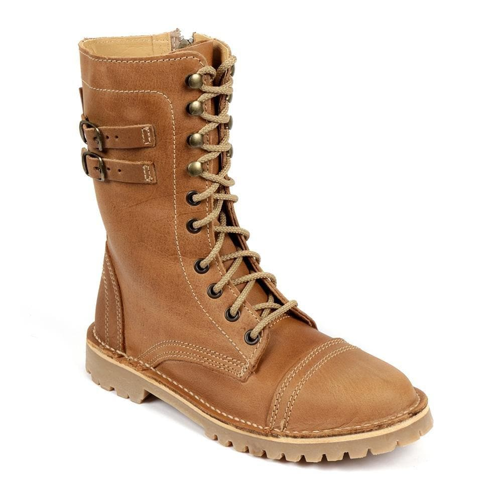 Army Boot Ladies - Freestyle Handcrafted Leather Proudly local leather boots veldskoens vellies leather shoes suede veldskoens
