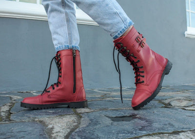 Army Boot Ladies - Freestyle SA Proudly local leather boots veldskoens vellies leather shoes suede veldskoens