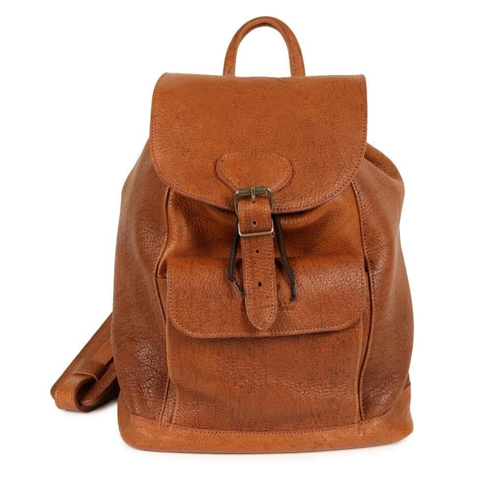 Jacqui Ecology soft-milled premium genuine Kudu leather Backpack - Freestyle SA Proudly local leather boots veldskoens vellies leather shoes suede veldskoens